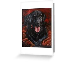Licky lab Greeting Card