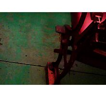 Red Chair Green Floor Photographic Print