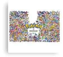 pokemon all Canvas Print