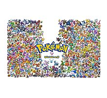 pokemon all Photographic Print