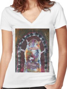 August 13 Number 46 Women's Fitted V-Neck T-Shirt