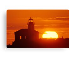 Coquille River Light Canvas Print