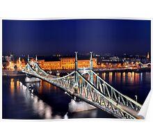 Liberty Bridge, Budapest, Hungary Poster