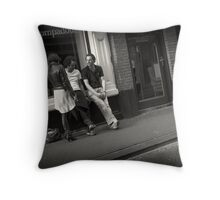 Pompadour Party Plan .. Every Picture Tells a Story Throw Pillow