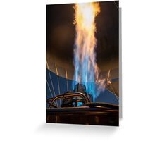 Hot air balloon gas burner and flame  Greeting Card
