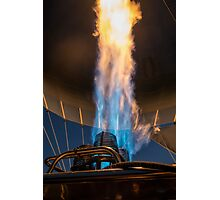 Hot air balloon gas burner and flame  Photographic Print