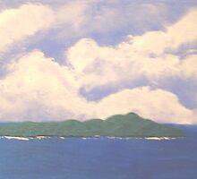 Kapiti Island Reserve from Paekakariki Hill by Beverley  Johnston