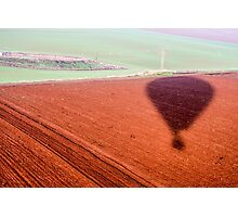 silhouette of an inflated Hot air balloon. Photographed in israel Photographic Print