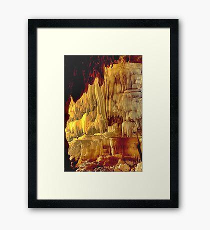 Massive cave dwarfs caver Framed Print