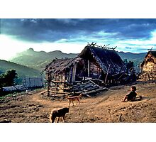 Mountain village and go-kart Photographic Print