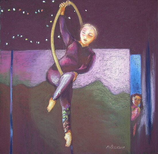 Girl in Hoop by maria paterson