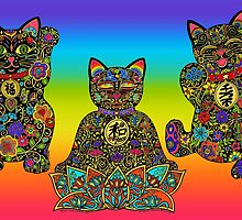 Maneki Lucky Black Cat Collection by ArtHarmony