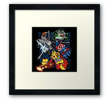 pokemon avengers Framed Print