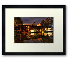 Echuca at night Framed Print
