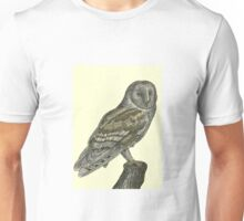 Barn Owl Pen Drawing Unisex T-Shirt