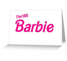 Barbie and Ken Matching Couple Shirt Greeting Card