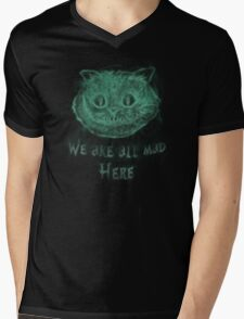 Cheshire in the dark Mens V-Neck T-Shirt