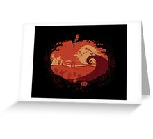 View over Halloween Town Greeting Card
