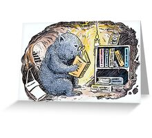 Mr Wombat Reads Greeting Card