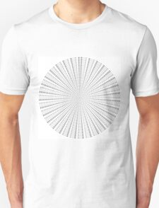 Arrows Sphere on White T-Shirt
