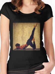 Yoga art 12 Women's Fitted Scoop T-Shirt