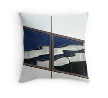 Trippy reflections Throw Pillow