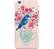 Bird on a Teacup by Andrea Lauren  iPhone Case/Skin