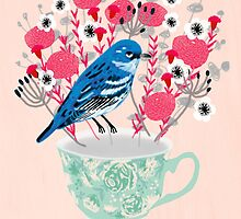 Bird on a Teacup by Andrea Lauren  by Andrea Lauren