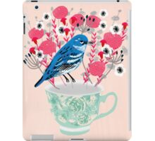 Bird on a Teacup by Andrea Lauren  iPad Case/Skin