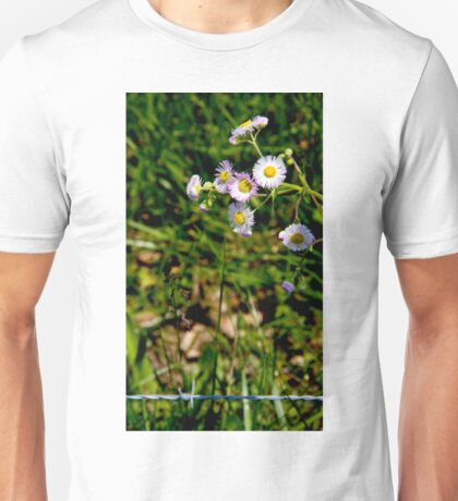 Barbed Flowers Unisex T-Shirt