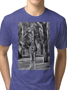 Giraffe Is Tall Tri-blend T-Shirt