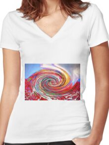 Catching the Wave Women's Fitted V-Neck T-Shirt