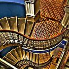 Vertigo - The Grand Stair Case - QVB , Sydney - The HDR Experience by Philip Johnson