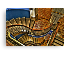 Vertigo - The Grand Stair Case - QVB , Sydney - The HDR Experience Canvas Print