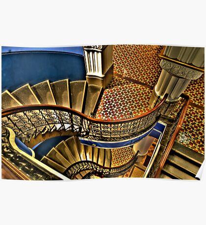 Vertigo - The Grand Stair Case - QVB , Sydney - The HDR Experience Poster