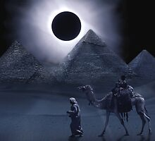 Giza Eclipse by Cliff Vestergaard