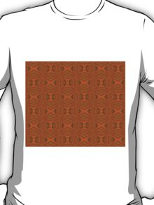 Autumnal Leaves Red Green and Amber Abstract Pattern T-Shirt