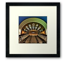 Stepping Down - QVB ,Sydney - The HDR Experience Framed Print