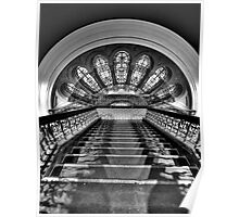 Black & White Symphony - QVB Building Sydney - The HDR Experience Poster