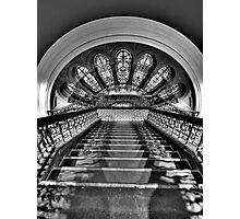 Black & White Symphony - QVB Building Sydney - The HDR Experience Photographic Print