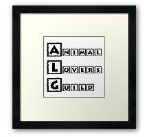 animal lovers guild Framed Print