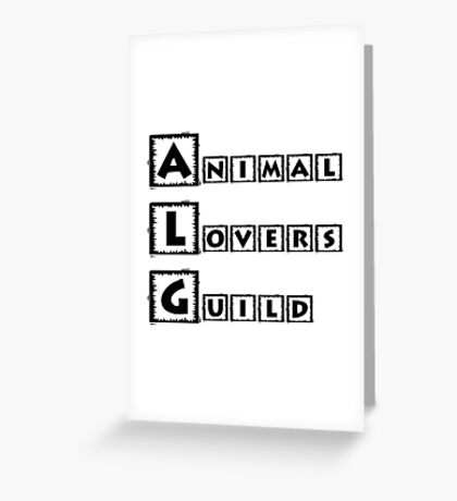 animal lovers guild Greeting Card