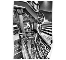 Off The Rails - QVB , Sydney (Monochrome) - The HDR Experience Poster