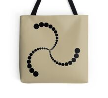 Spiral Crop Circle black Tote Bag