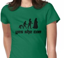 Yes she can Womens Fitted T-Shirt