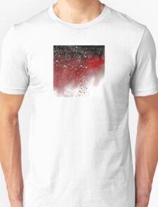 Abstract Art in Red, Black, and White T-Shirt