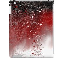 Abstract Art in Red, Black, and White iPad Case/Skin