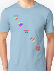 Rainbow Hearts T-Shirt T-Shirt