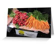 radishes and carrots Greeting Card