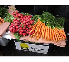 radishes and carrots Photographic Print